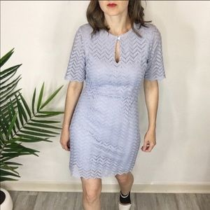 NWT INA lace dress lavender short sleeves 0877